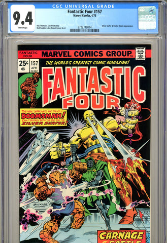 Fantastic Four #157 CGC 9.4 - Silver Surfer and Doctor Doom c/s