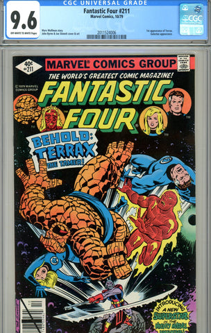 Fantastic Four #211 CGC graded 9.6  first Terrax SOLD!