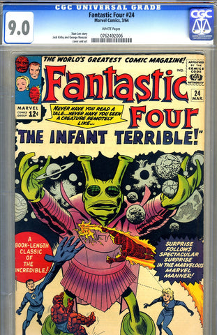 Fantastic Four #24   CGC graded 9.0 - SOLD!
