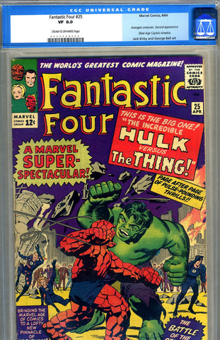Fantastic Four #25   CGC graded 8.0 - SOLD