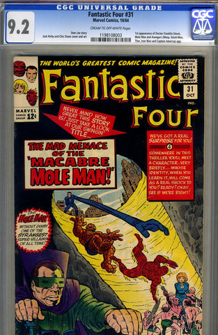 Fantastic Four #31  CGC graded 9.2 - SOLD