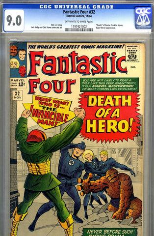 Fantastic Four #32   CGC graded 9.0 - SOLD