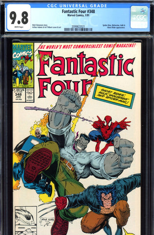 Fantastic Four #348 CGC graded 9.8  HIGHEST GRADED - SOLD!