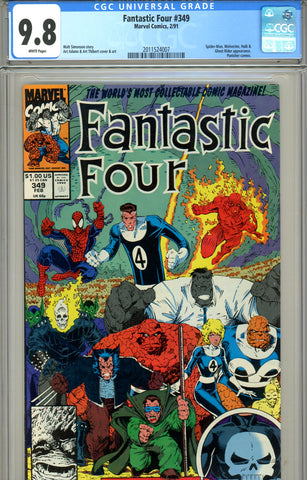 Fantastic Four #349 CGC graded 9.8 Spider-Man+  SOLD!