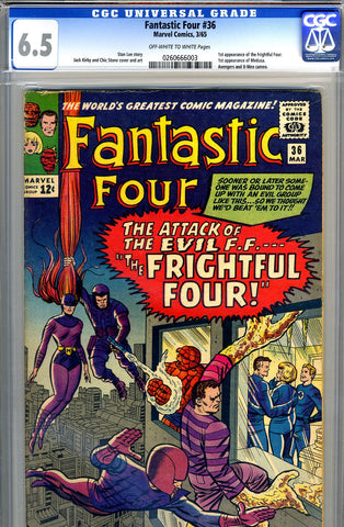 Fantastic Four #036   CGC graded 6.5 - SOLD!