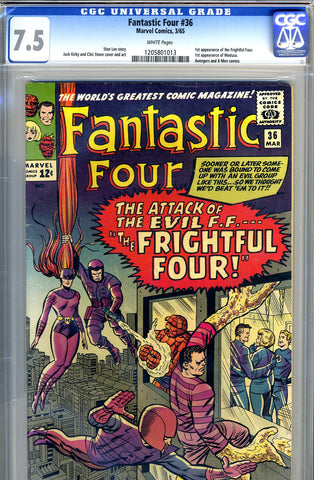 Fantastic Four #036   CGC graded 7.5 - white  pages  - SOLD!