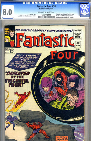 Fantastic Four #38   CGC graded 8.0 -  SOLD