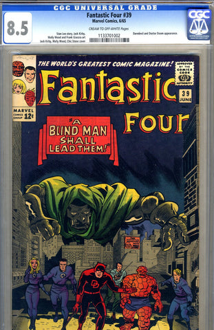 Fantastic Four #39   CGC graded 8.5 - SOLD
