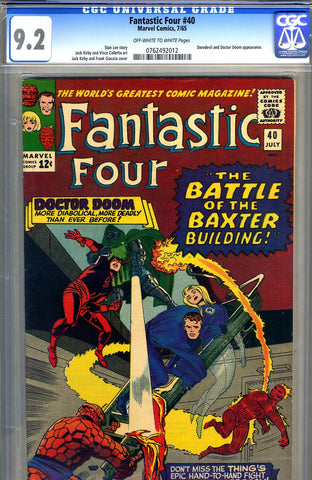 Fantastic Four #40   CGC graded 9.2 - SOLD!