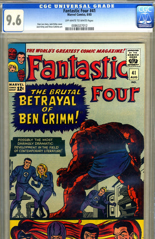 Fantastic Four #41   CGC graded 9.6 - SOLD