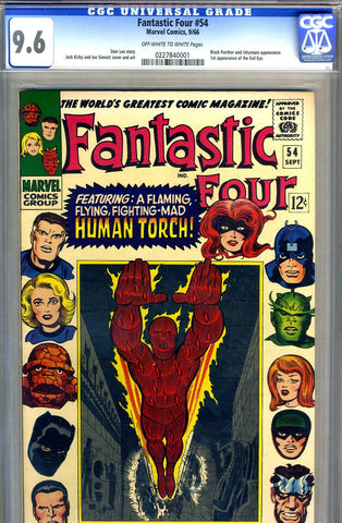 Fantastic Four #054  CGC graded 9.6 - SOLD!
