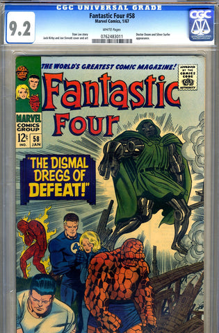 Fantastic Four #58   CGC graded 9.2 - SOLD