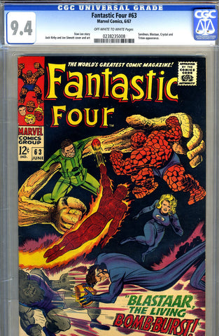 Fantastic Four #063   CGC graded 9.4  black cover PENDING