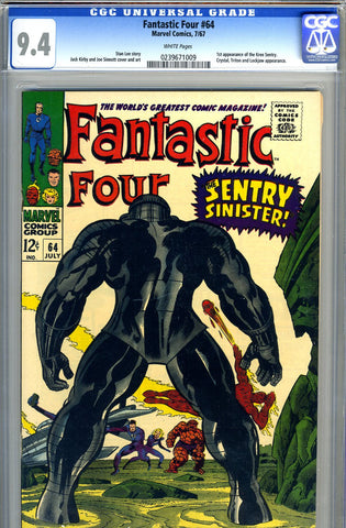 Fantastic Four #64   CGC graded 9.4 - SOLD!