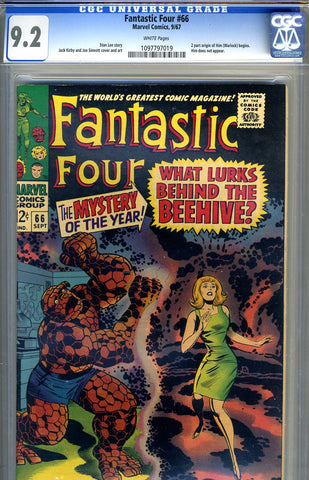 Fantastic Four #066   CGC graded 9.2 - white pages - SOLD!