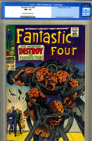 Fantastic Four #68   CGC graded 9.2 - SOLD