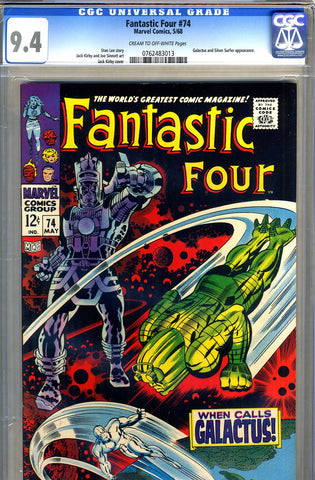 Fantastic Four #74  CGC graded 9.4 - SOLD