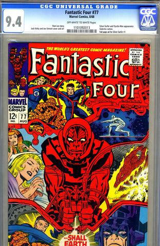 Fantastic Four #77  CGC graded 9.4 - SOLD