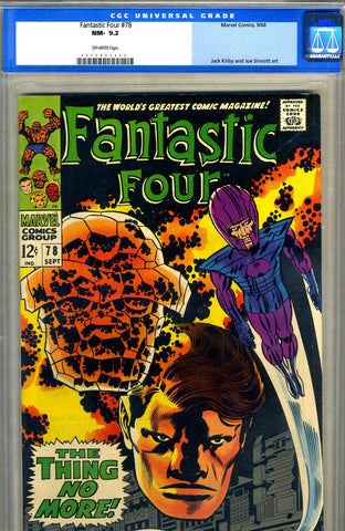 Fantastic Four #78  CGC graded 9.2 - SOLD