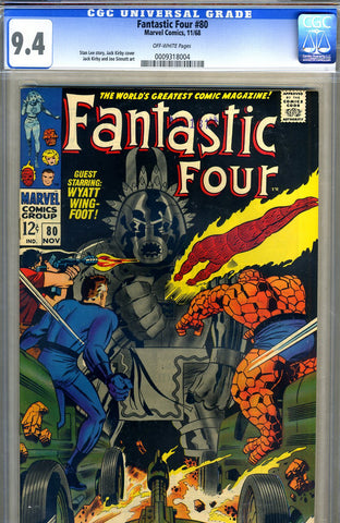 Fantastic Four #80  CGC graded 9.4 - SOLD