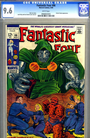 Fantastic Four #086  CGC graded 9.6 - white pages - SOLD!