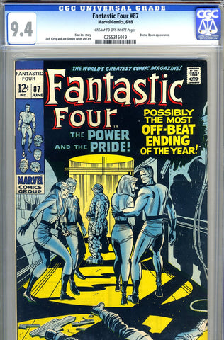 Fantastic Four #87   CGC graded 9.4 - SOLD!