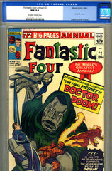 Fantastic Four Annual #02   CGC graded 9.4  origin of Doctor Doom