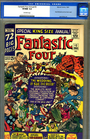 Fantastic Four Annual #3   CGC graded 9.0 - SOLD