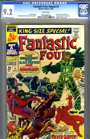 Fantastic Four Annual #5  CGC graded 9.2 - SOLD