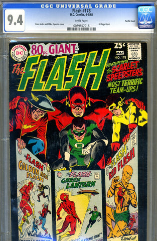 Flash #178   CGC graded 9.4 - Giant - SOLD