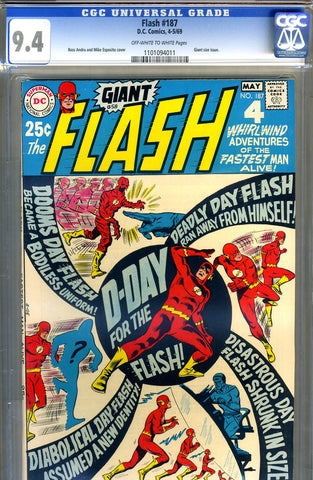 Flash #187   CGC graded 9.4 - Giant - SOLD