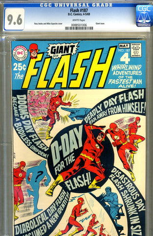 Flash #187   CGC graded 9.6 - Giant - SOLD