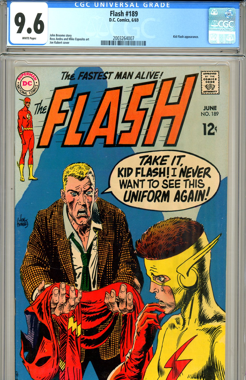 Flash #189 CGC graded 9.6 white pages SOLD!