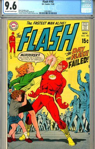 Flash #192  CGC graded 9.6  late silver age SOLD!