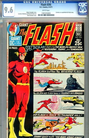 Flash #205 CGC graded 9.6 white pages - Giant