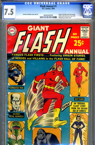 Flash Annual #1   CGC graded 7.5 - SOLD