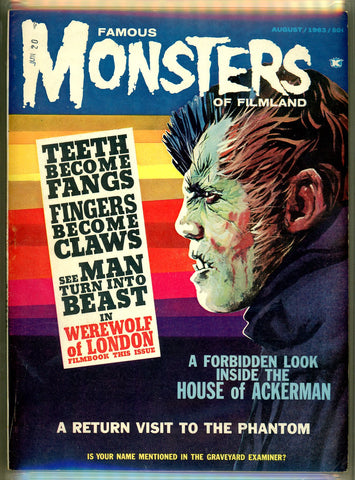Famous Monsters of Filmland #24 CGC graded 7.5 - SOLD!