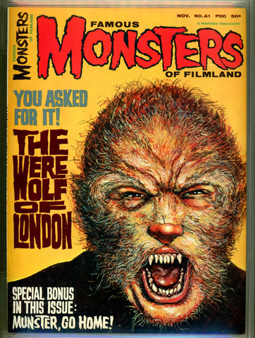 Famous Monsters of Filmland #041 CGC graded 9.4 SOLD!