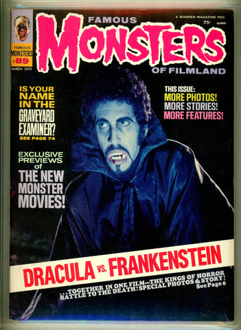 Famous Monsters of Filmland #089 CGC graded 9.0 - SOLD!