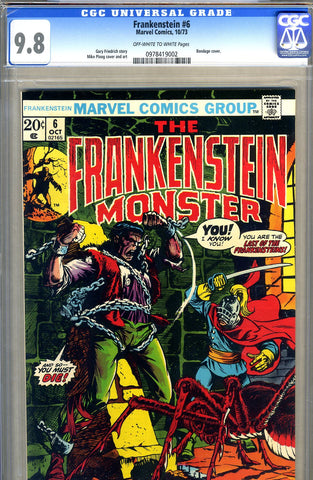 Frankenstein #06   CGC graded 9.8 - HIGHEST GRADED - SOLD!
