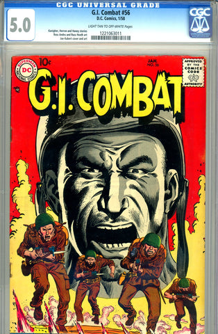G.I. Combat #056 CGC graded 5.0 Sgt. Rock prototype
