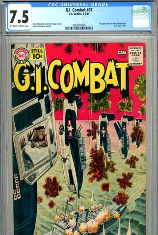 G. I. Combat #087 CGC graded 7.5 - first appearance of the Haunted Tank