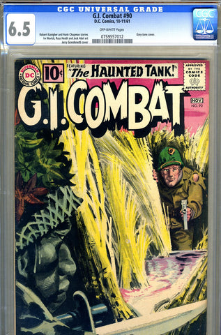 G.I. Combat #090   CGC graded 6.5 fourth Haunted Tank SOLD!