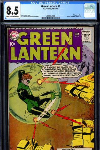 Green Lantern #03 CGC graded 8.5 fourth highest graded