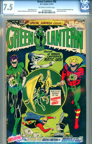 Green Lantern #88   CGC graded 7.5 - classic cover - SOLD!