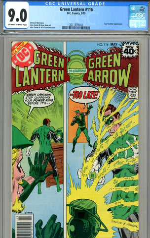 Green Lantern #116 CGC graded 9.0 - SOLD!