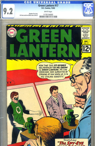 Green Lantern #17   CGC graded 9.2 - white pages - SOLD!