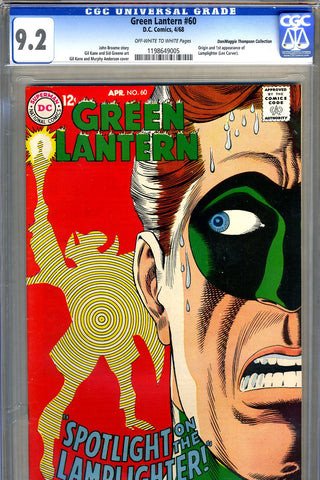 Green Lantern #60   CGC graded 9.2 first Lamplighter SOLD!