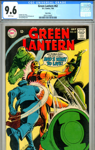 Green Lantern #62 CGC graded 9.6 white pages - SOLD!