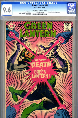 Green Lantern #64   CGC graded 9.6 - SOLD